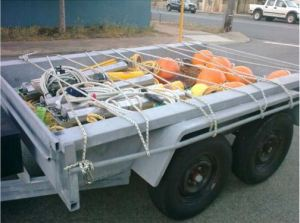 Four acoustic loggers and their moorings packed for transportation to Geographe Bay from Curtin University